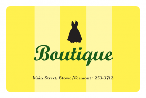 The Boutique Stowe VT